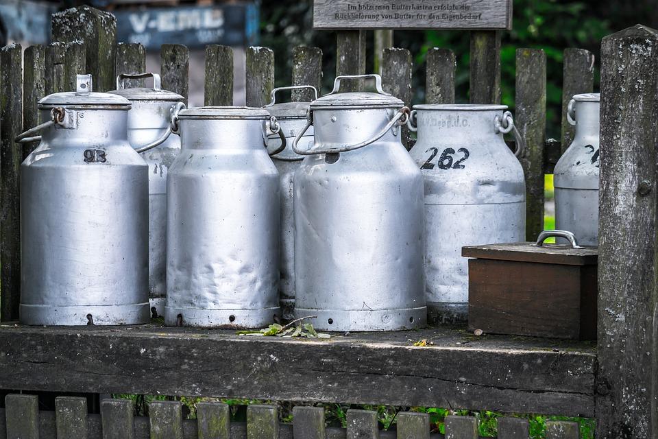 Picture of milk jars