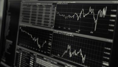 Graphique marché financier