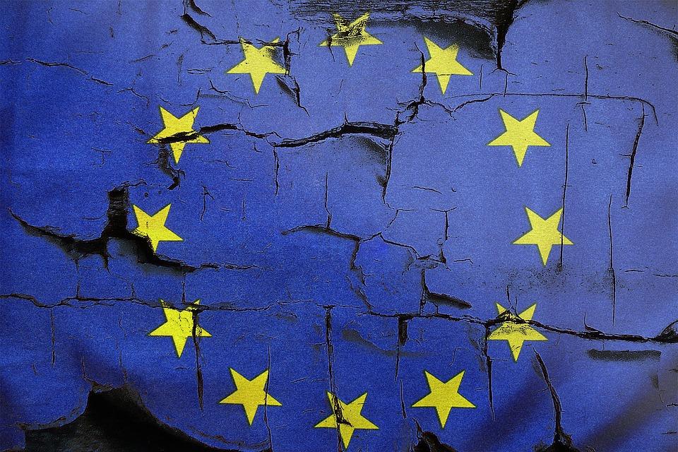 Drapeau européen craquelé